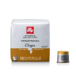 Cafea Illy 18 capsule iperespresso Etiopia cu cofeina