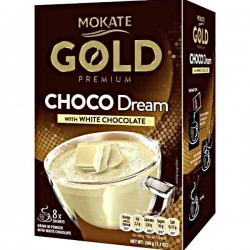 Ciocolata calda Mokate Gold White Chocolate pliculete 8x25g