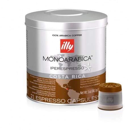 Cafea illy 21 capsule iperespresso monoarabica COSTA RICA cu cofeina